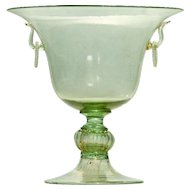 Venetian Murano Green Glass Centerpiece