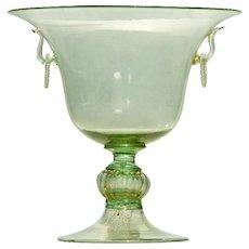 Venetian Murano Green Glass Centerpiece