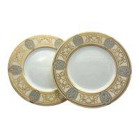 Set of 12 Minton Art Nouveau Dinner Plates