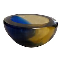 Ashtray in Murano Glass Signed Venini