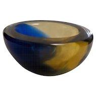 Ashtray in Murano Glass Signed Venini
