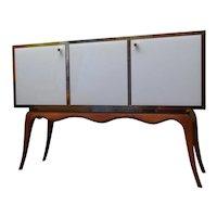 1950 Glass and Wood Mid-Century Venetian Sideboard