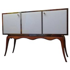 1950 Glass and Wood Mid-Century Venetian Sideboard