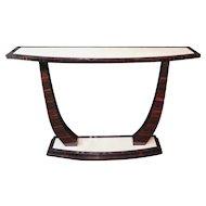 Macassar Ebony Art Deco Console Table