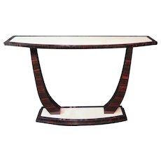 Macassar Ebony Art Deco Console Table