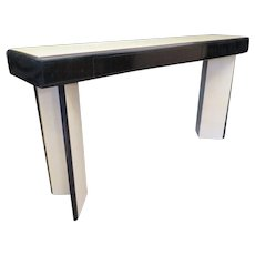 Art Deco Console Table with Three Drawers