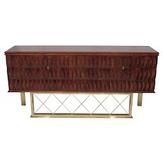 Art Deco Cherrywood Sideboard, Italy 1940.