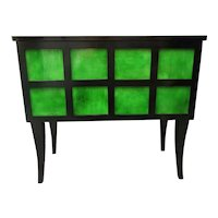 French Ebonized and Emerald Green Sideboards