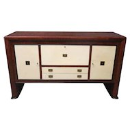 Reductive Geometric Italian Art Deco Sideboard