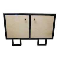 Minimalist Art Deco Demilune Sideboard, with Two Big Eyes