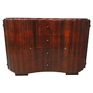 Austrian Art Deco Scalloped Sideboard
