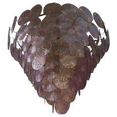 Amethyst Color Chandelier, 1970s MURANO