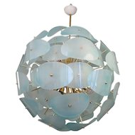 "Murano Chandelier 1970 in the Style of ""Stilnovo"""