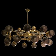 Murano Art Glass 1950s Chandelier