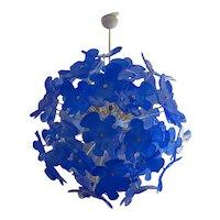 Murano 1970s Sputnik Art Glass Midcentury Chandelier