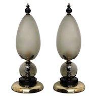 Two Fantastic Murano Table Lamps