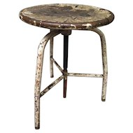 1960s Original Italian Industrial Stool