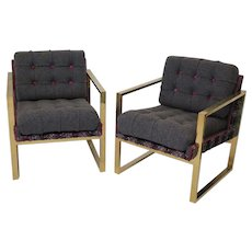 Pair of 1950s Brass italian Armchairs