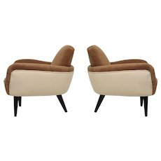 Pair of Art Deco Armchairs, Italy 1940