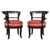 Pair of Biedermeier Arm Chairs