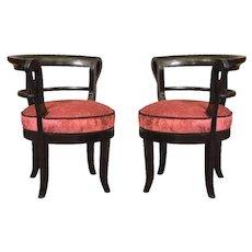 Pair of Biedermeier Arm Chairs