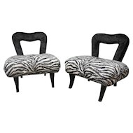 Whimsical Pair of French Chairs