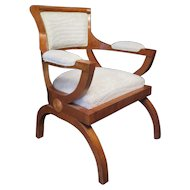 Sculptural Art Deco Arm Chair