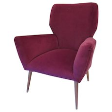 Art Moderne Upholstered Arm Chair, 1950's