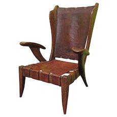 Armchair as in the style of Carlo Mollino