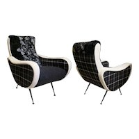 Two Style of MarCo Zanusso Armchairs