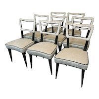 Set of Eight Chairs by Osvaldo Borsani