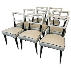 Set of Eight Chairs by Osvaldo Borsani