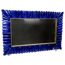 Mirror with Murano Art Glass Frame, Italy 1980