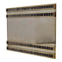 Murano Mid-Century Brass and Glass Wall Mirror