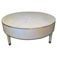 French Deco Cocktail Table in Parchment