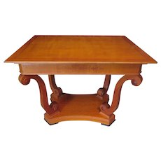 Cherry Wood Sofa or Center Table, Early 20th Century
