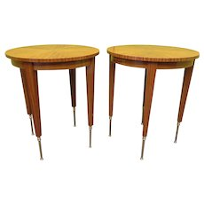 Two French Art Deco Side Tables