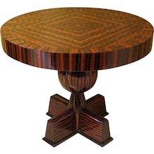 Side Table in Ebony Macassar