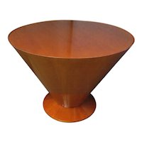 Round Art Deco End Table