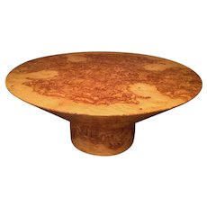 Large Sculptural Dining Table in Olive Wood