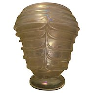 One of Murano Vase Gold Colored