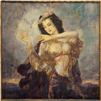 1947 Beauty with Dove by John William Orth
