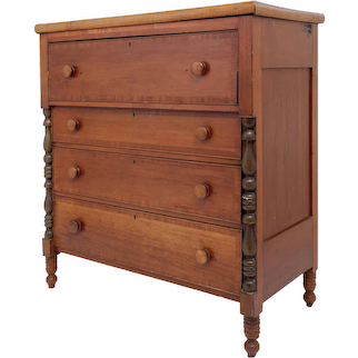 Empire Style Cherry Chest of Drawers