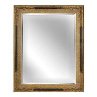 Large Trumeau Style Gold Beveled Mirror