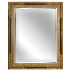 Large Trumeau Style Gold Beveled Mirror