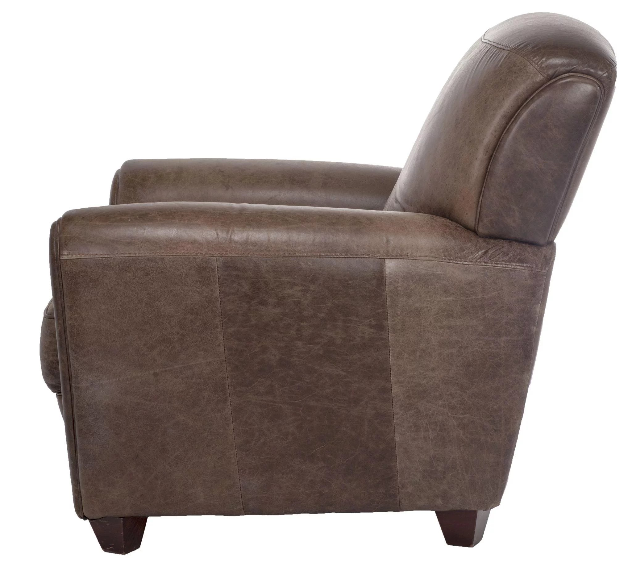 Superieur Olive Green Leather Club Chair. Click To Expand
