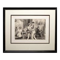 """Rue Blondel, No. 2"" Reginald Marsh Lithograph"