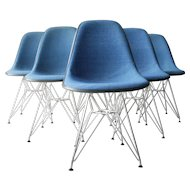 Six Eames DSR Upholstered Chairs