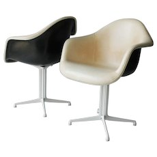 Four Plastic DAL Armchairs by Eames for Miller