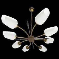 Eight-arms Chandelier in the Style of Stilnovo